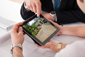 Consulting on home project on tablet