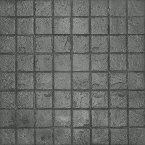 Ardesia Series - 6x6 Stacked Bond Slate - Platinum