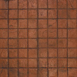 Ardesia Series - 6x6 Stacked Bond Slate - Terracotta