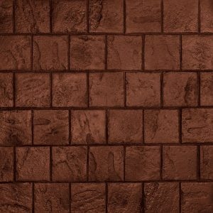 Ardesia Series - 8x8 Running Bond Slate - Brick Red