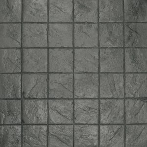 Ardesia Series - 8x8 Stacked Bond Slate - Platinum
