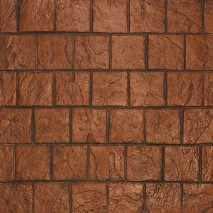Ardesia Series - 8x8 Running Bond Slate - Terracotta