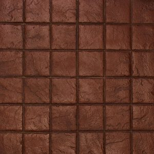 Ardesia Series - 8x8 Stacked Bond Slate - Brick Red