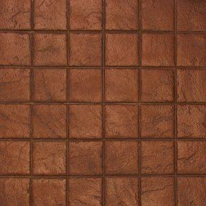 Ardesia Series - 8x8 Stacked Bond Slate - Terracotta