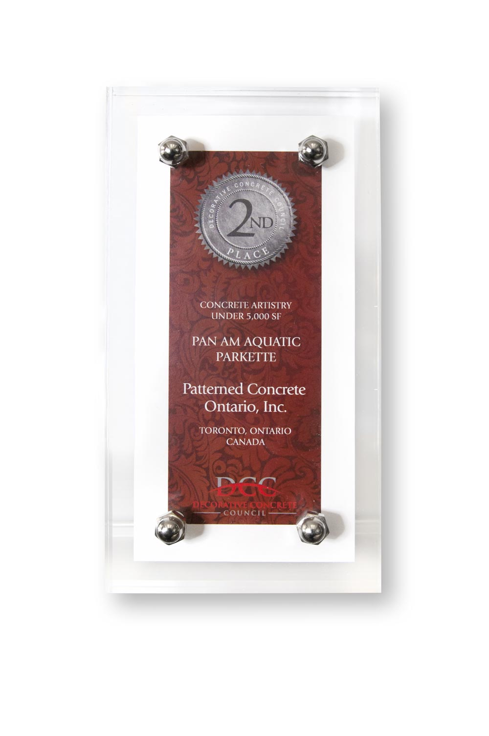 Our stamped concrete contracts are recognized as among the best