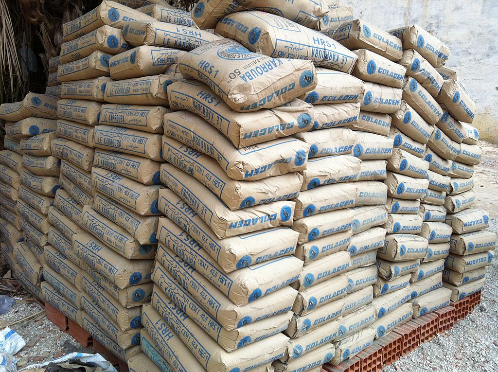 buying bags of cement