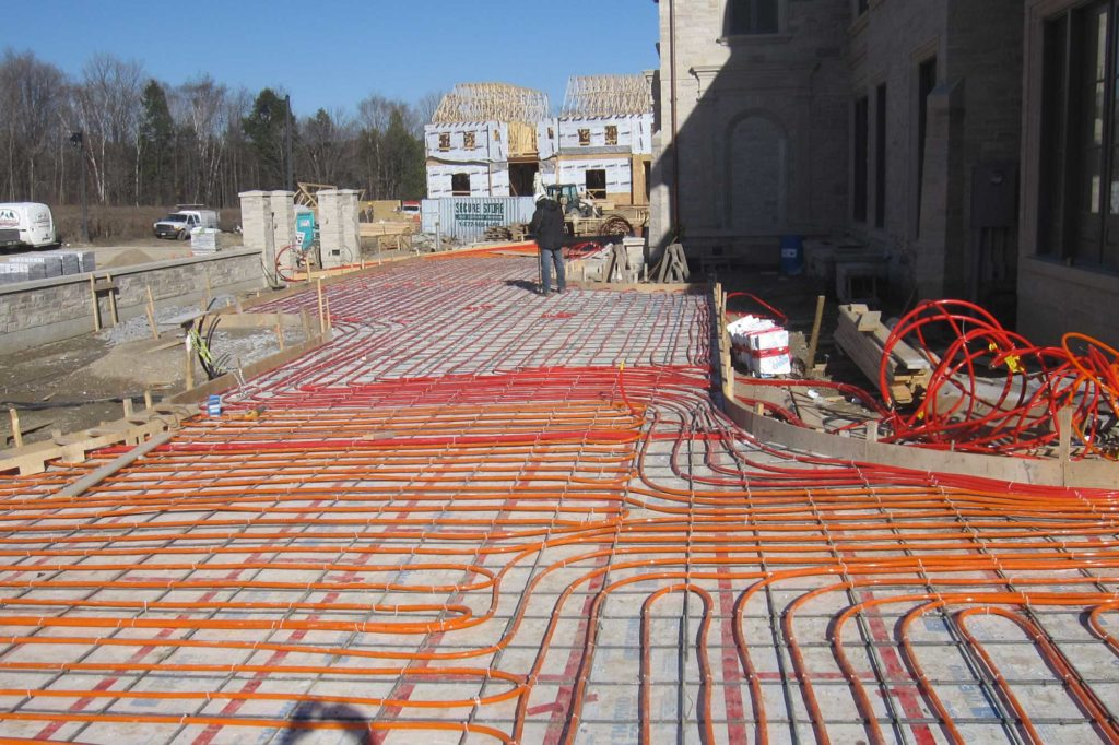 Heated Driveway Installation