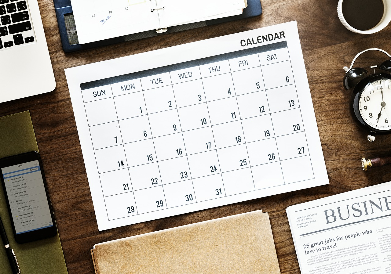 for social media, an editorial calendar can help make sure you post regularly and with a good variety of content